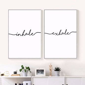 Inhale And Or Exhale Minimalist Canvas Art Prints - - Wall Accents