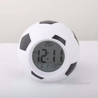 Led Soccer Alarm Clock ! - Black - Accessories