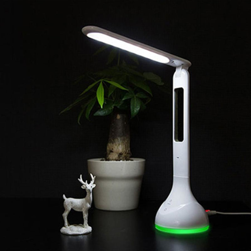 Led Touch Dimmer Desk Lamp Usb Rechargeable Foldable With Calendar - - Lighting