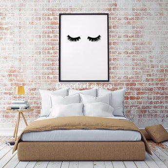Modern Lashes Canvas Paintings Black & White (Many Sizes) - - Wall Accents