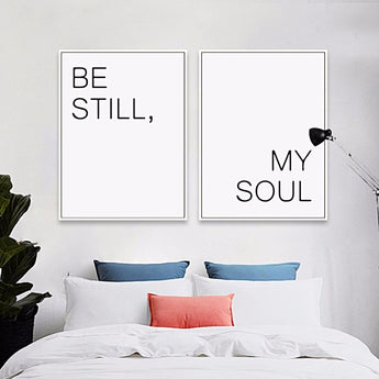 My Soul And Or Be Still - Canvas Art Print - - Wall Accents