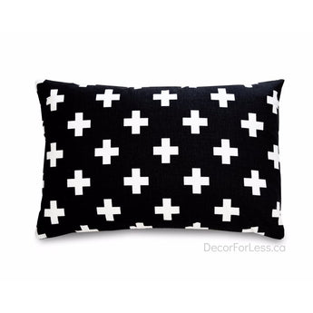 Olli+Lime - Black Cross Pillow - - Accessories
