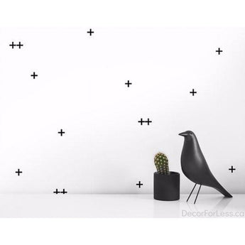 Olli+Lime - Cross Wall Decal -Black - - Wall Accents
