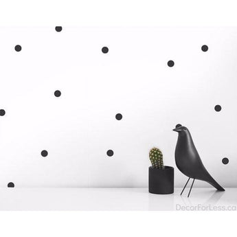 Olli+Lime - Dots Wall Decal -Black - - Wall Accents