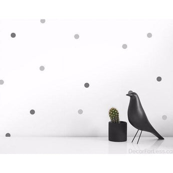 Olli+Lime - Dots Wall Decal -Gray - - Wall Accents