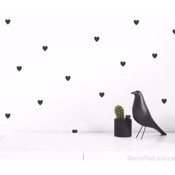Olli+Lime - Heart Wall Decal -Black - - Wall Accents