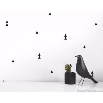 Olli+Lime - Triangle Wall Decal - Black - - Wall Accents