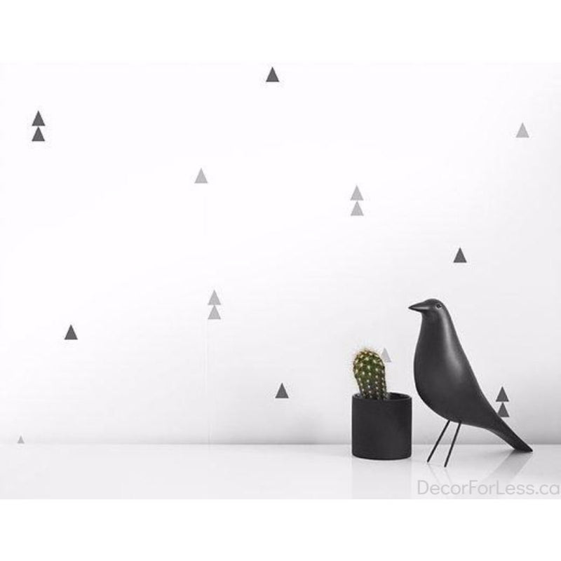 Olli+Lime - Triangle Wall Decal - Gray - - Wall Accents