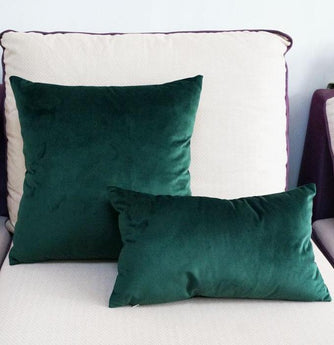 Darker Emerald Velvet Cushion Case
