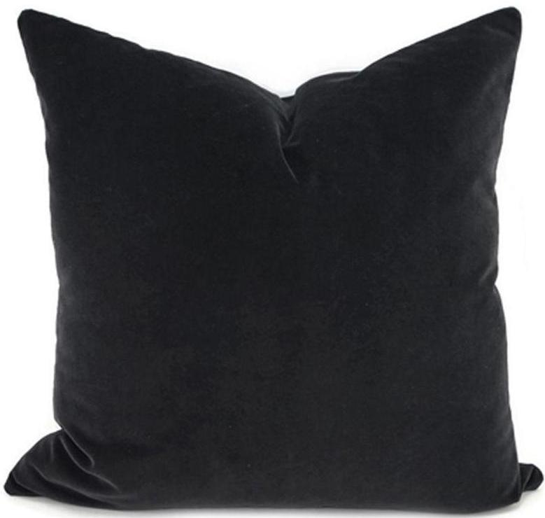 Velvet Matte Black Cushion Cover