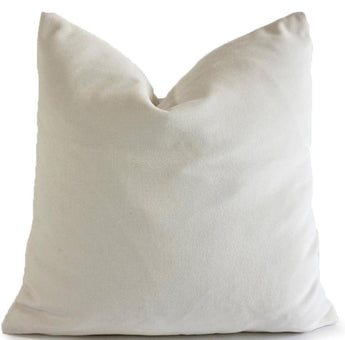 Matte Cream White Velvet Cushion Cover