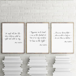 Harry Potter Albus Dumbledore Quote canvas wall décor (Variants)