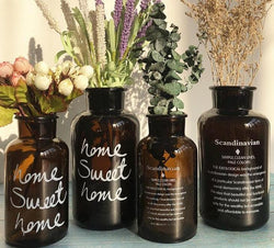 Brown Glass Decorative Vase / Bottle (Variants)