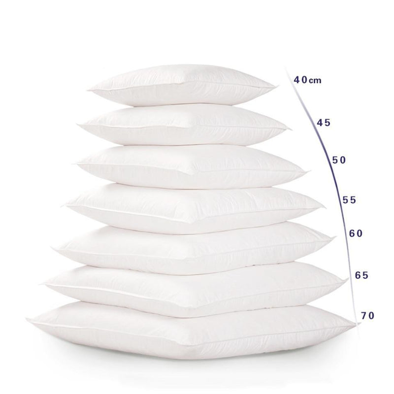 White Cushion Inserts (Size Variants)