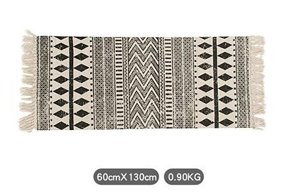 Black & White Geometric Bohemian Rug / Carpet