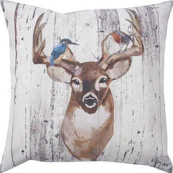 BELL Stag Decorative pillow (White Duck Feathers Insert)