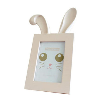 Rabbit In Pink - Picture Frame - Resin On Wood - - Wall Accents