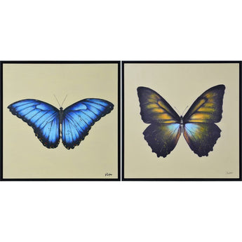 Renwil Gowan Butterflies - By William Parker - Set Of 2 - - Wall Accents