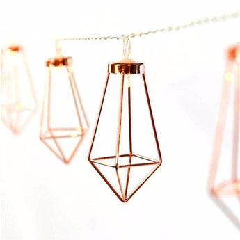 Rose Gold Diamond Drops - Fairy Lights - - Lighting