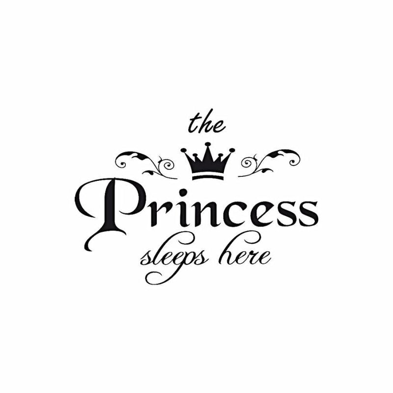 The Princess Sleeps Here Wall Decal - - Accents