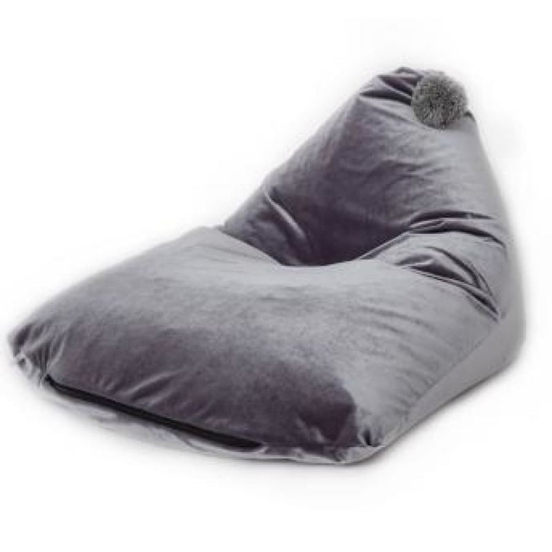 Velveteen Grey - Childrens Bean Bag Chair - Wild Design Lab - - Accessories