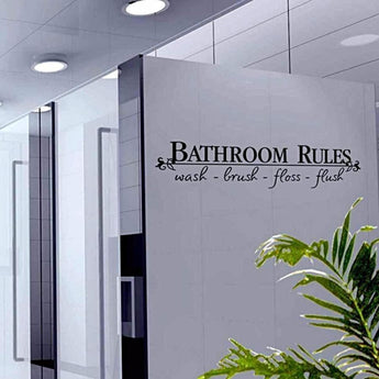 Wall Decal Bathroom Rules.. - - Accents