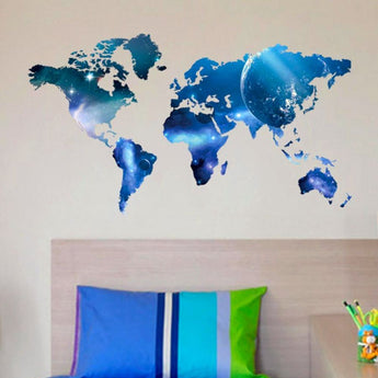 World Map Removable Vinyl Wall Decal - - Accents
