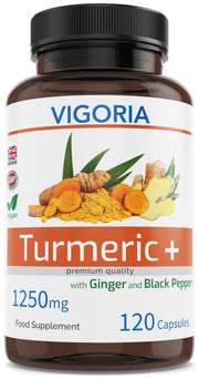 Vigoria Turmeric Ginger Black Pepper Capsules
