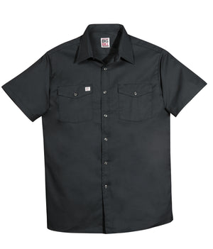 Button up short sleeve shirt (Black)