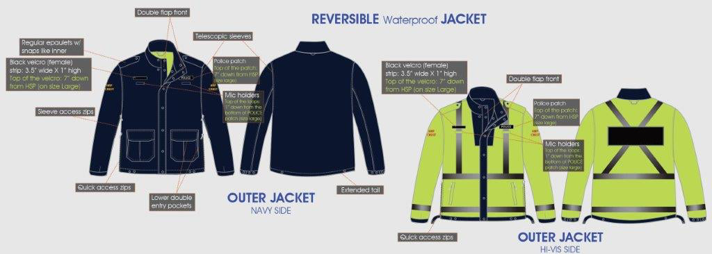 Winter 4-in-1 Police Jacket (UNISEX) - cfmuniforms.com/store