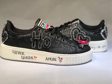 Black embellished sneakers personalizalo