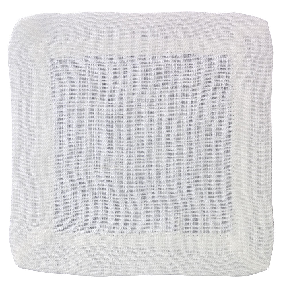 Brittany White Cocktail Napkins