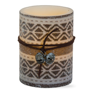 Aspen LED Flameless Pillar Candle ~ winter and holiday decor ~ RedRiverIron.com