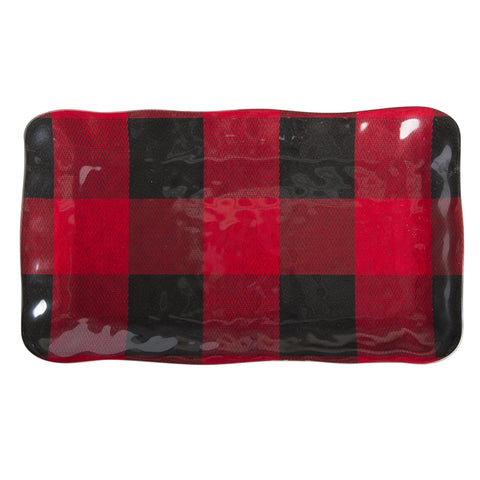 Buffalo Plaid Serving Platter ~ Lodge decor tray ~ RedRiverIron.com