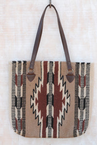 Adobe Southwest Wool Handbag ~  Handwoven 100% wool in stylish shades of brown to compliment any wardrobe.