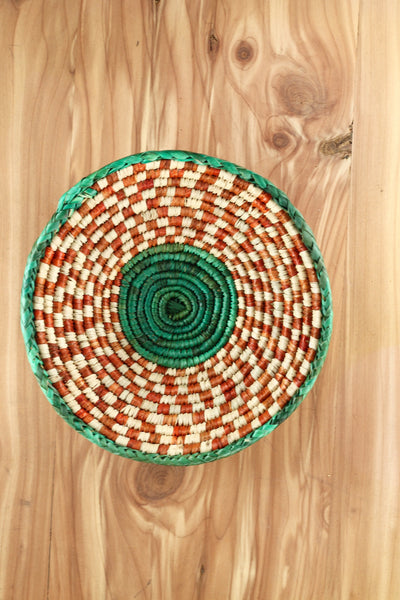 Southwest Basket ~ Handcrafted with tightly woven palm leaves. Perfect for storing jewelry and trinkets. Multiple colors available. FREE SHIPPING RedRiverIron.com