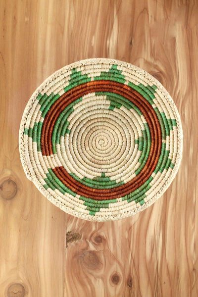 Southwest Basket ~ Handcrafted with tightly woven palm leaves. Perfect for storing small trinkets and jewelry. Makes a great accent piece. RedRiverIron FREE SHIPPING