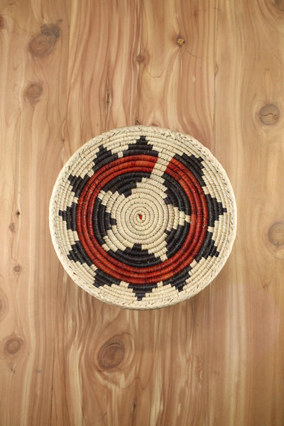 Southwest Basket ~ Handcrafted with tightly woven palm leaves. Perfect for storing small trinkets and jewelry. Makes a great accent piece. RedRiverIron.com FREE SHIPPING