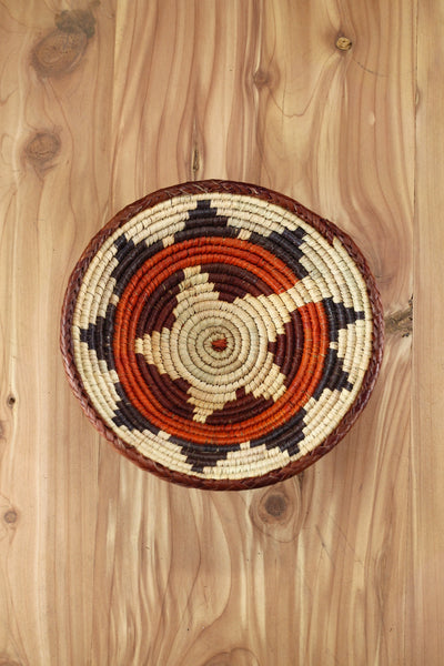Southwest Basket ~ Handcrafted with tightly woven palm leaves. Perfect for storing small trinkets and jewelry. Makes a great accent piece. FREE SHIPPING RedRiverIron.com