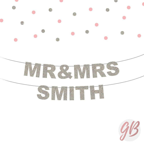 Mr And Mrs Custom Banner