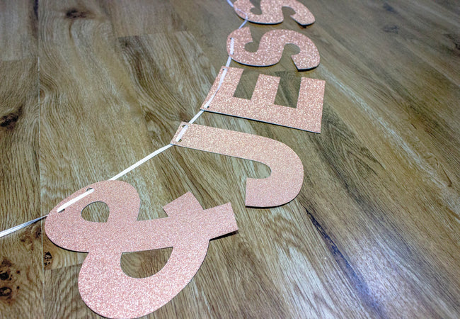 Personalised Glitter Banner