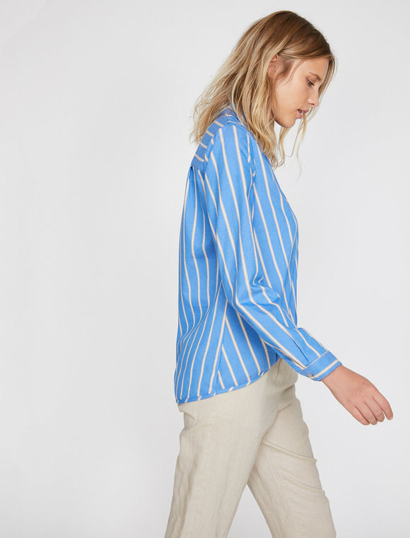 14849 blue striped blouse