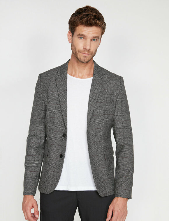 17551 Grey Check Blazer