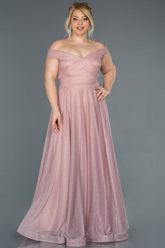 18159 Pink Cross Chest Shimmer Tulle Dress