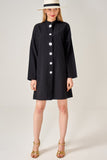 1210281 Black Button-Up Shirt Dress