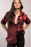 3010002 Bordeaux Check Cotton Shirt