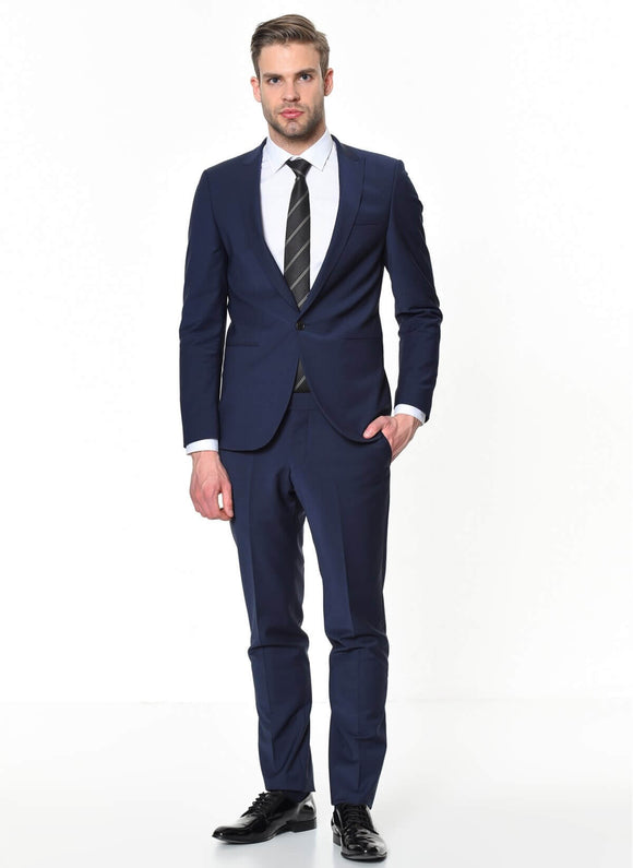 14547 Navy Blue Classic Suit For Men Men's Suit South Africa
