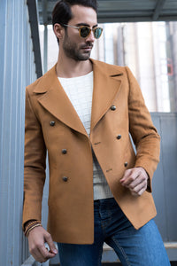 2040114 Camel Double-Breasted Coat