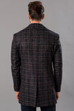 2040162 Brown Check Coat
