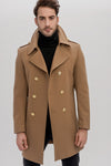 2040219 Camel Military Style Wool Coat